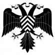 Double-headed heraldic eagle #4 — Stock Vector