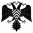 Double-headed heraldic eagle #4 - Stock Vector