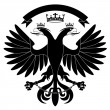 Double-headed heraldic eagle #3 - Stock Vector