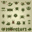 Royalty-Free Stock Vector Image: Doodle monster set