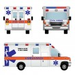 Ambulance car — Vettoriali Stock
