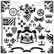Heraldic set - Stock Vector