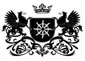 Heraldic griffin — Stock Vector