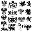 Coat of arms set - Stock Vector