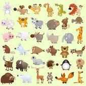 Conjunto de animais dos desenhos animados — Vetorial Stock