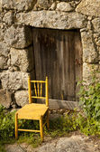 Door of an ancient house — Stock Photo