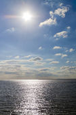 Afternoon sun over the sea — Stock Photo