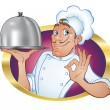 Stock Vector: Culinary chef