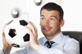 Football business — Stock Photo