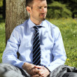 Stock Photo: Businessman and tree