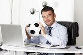 Piłka w biurze — Zdjęcie stockowe