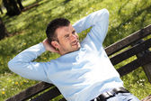 Relax on a bench — Stock Photo