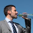 Drink and blue sky — Stock Photo