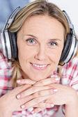Headphones music — Stock Photo