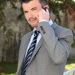 On the phone outdoor — Stock Photo #6005809