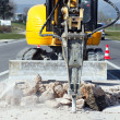 Jackhammer square - Stock Photo
