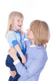 Young mom talk with child — Stock Photo
