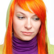 Upsed young red hair woman — Stock Photo