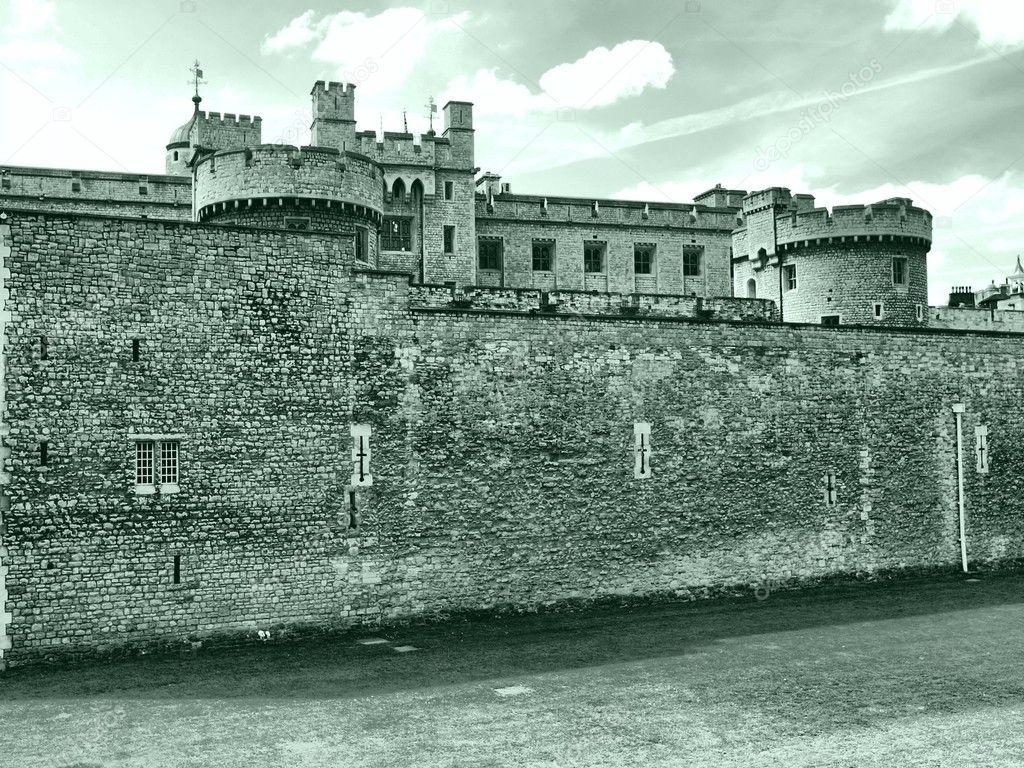 伦敦塔, 中世纪城堡和监狱-高动态范围 hdr-黑色和白色— photo by