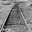 Stock Photo: Railway railroad tracks