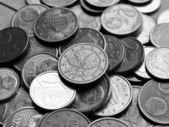 Fundo de moedas de euro — Foto Stock