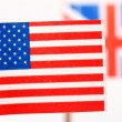 Stock Photo: British and Americflags