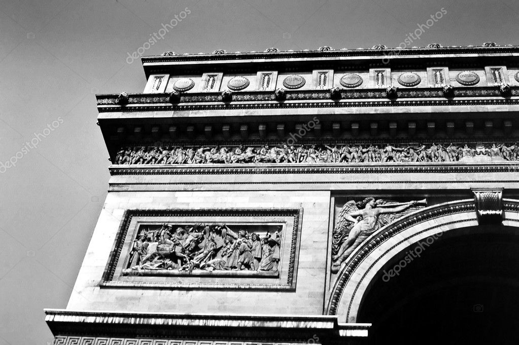 Detail of the Arc de Triomphe in Paris, France — Stock Photo #5483386
