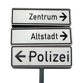 German traffic sign — Stock Photo