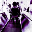 Grunge escalator — Stockfoto