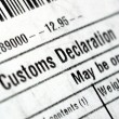 Customs declaration - Foto Stock