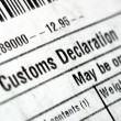 Customs declaration — Foto Stock #5814831