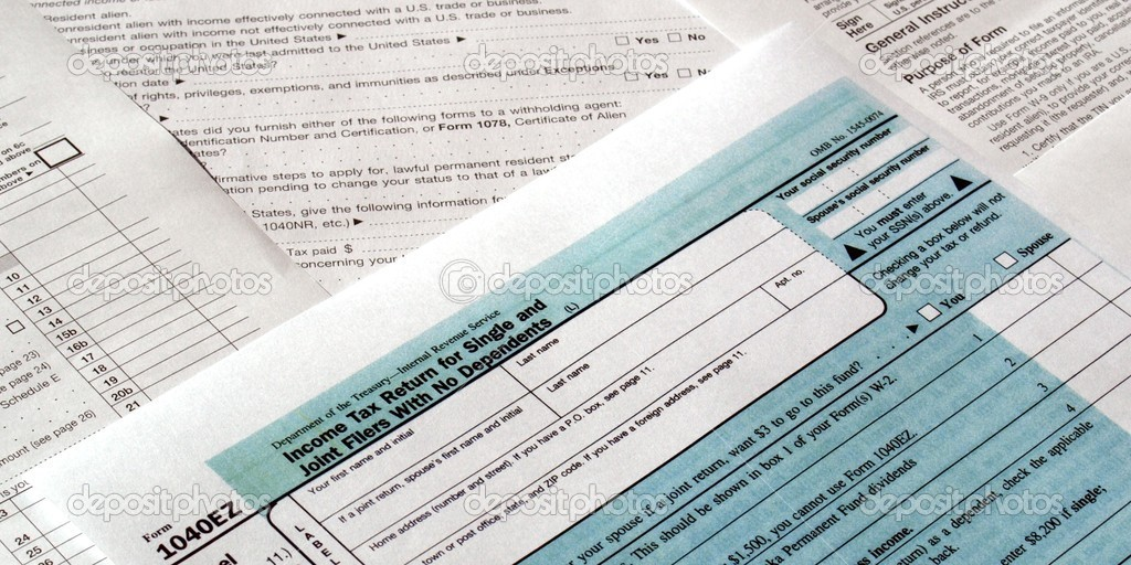 Range of various blank USA tax forms — Stock Photo #5814823