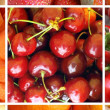 Red food collage — Stock Photo