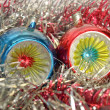Stock Photo: Christmas bauble and tinsel