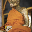 Statue of buddhist monk — Stock Photo