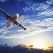 Stock Photo: Jet plane in flight