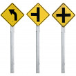 Road sign set - Stok fotoraf