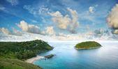 Tropikalne morze pejzaż — Zdjęcie stockowe