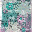 Stock Photo: Grungy Floral Background 2