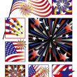 Stock Vector: AmericCelebrations in Gradients