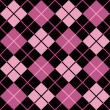 Stock Vector: Argyle Pattern in Black and Pink