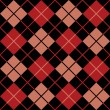 Argyle Pattern in Black, Red and Salmon - Imagen vectorial