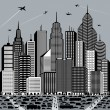 Stock Vector: Big City