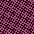 Different Houndstooth in Magenta and Black - Imagen vectorial