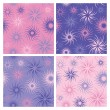 Stock vektor: Fire Flower Pattern in Pink and Lavender