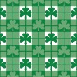 Stock Vector: Shamrock Plaid