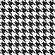 Houndstooth Pattern - Stock Vector