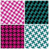 Abstract Houndstooth Patterns — Stock Vector