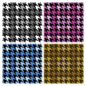 Houndstooth Plaid — Stock Vector