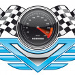 Racing insignia — Stock Photo